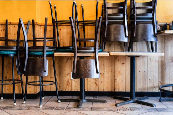 Empty restaurant Covid