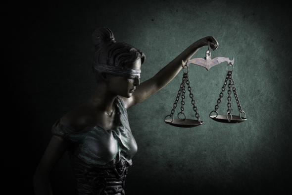 Lady justice green