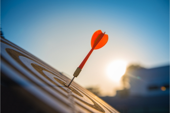 Red dart arrow