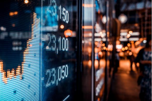 Stock exchange market display